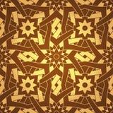 Het vector Geometrische Dwars Naadloze Patroon van de Bloem royalty-vrije illustratie