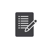 Het vector, gevulde vlakke teken van het vormpictogram, stevig geïsoleerd pictogram Stock Foto