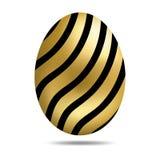 Het vector Gouden die Ei van Pasen op witte achtergrond wordt ge?soleerd Kleurrijk Ei met Dots Pattern Realistische stijl Vector  royalty-vrije illustratie