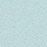 Het vector grafische abstracte patroon van het meetkundelabyrint Blauwe Naadloze Geometrische Achtergrond Stock Foto's