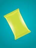Het vector groene malplaatje van de foliezak voor chips, koffie, suiker Stock Foto