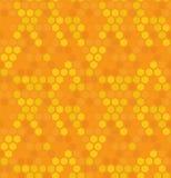 Het vector hexagon naadloze patroon van de honingbijaard stock foto