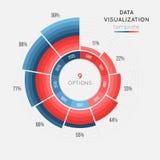 Het vector infographic malplaatje van de cirkelgrafiek voor gegevensvisualisatie Royalty-vrije Stock Afbeeldingen