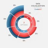 Het vector infographic malplaatje van de cirkelgrafiek voor gegevensvisualisatie Royalty-vrije Stock Fotografie