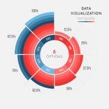 Het vector infographic malplaatje van de cirkelgrafiek voor gegevensvisualisatie Stock Foto