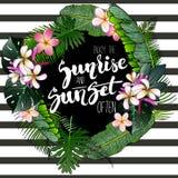Het vector inspirerende citaat van het afficheverstand Geniet vaak van de zonsopgang en de zonsondergang Getrokken hand vector illustratie