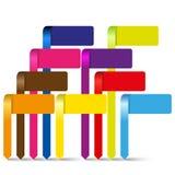 Het vector kleurrijke malplaatje van informatie grafische wijzers Stock Foto
