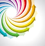 Het vector kleurrijke pictogram van de het levenscyclus Stock Fotografie