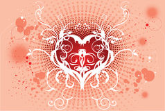 Het vector kunstwerk van de kunstliefde backround Royalty-vrije Stock Foto