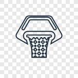 Het vector lineaire die pictogram van het basketbalconcept op transparante bedelaars wordt geïsoleerd stock illustratie