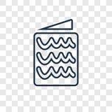 Het vector lineaire die pictogram van het brievenconcept op transparante backgr wordt geïsoleerd vector illustratie
