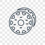 Het vector lineaire die pictogram van het doughnutconcept op transparante rug wordt geïsoleerd royalty-vrije illustratie
