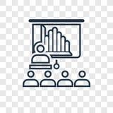 Het vector lineaire die pictogram van het seminarieconcept op transparante backg wordt geïsoleerd stock illustratie