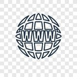 Het vector lineaire die pictogram van het Webconcept op transparante backgroun wordt geïsoleerd vector illustratie