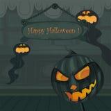 Het vector malplaatje van Halloween royalty-vrije illustratie