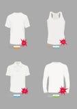 Het vector Malplaatje van het Ontwerp van de T-shirt Royalty-vrije Stock Foto's