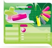 Het vector malplaatje van het websiteontwerp Stock Afbeeldingen