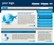 Het vector malplaatje van het websiteontwerp Stock Foto