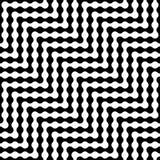 Het vector moderne abstracte patroon van het meetkundelabyrint zwart-witte naadloze geometrische achtergrond Stock Foto