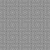 Het vector moderne abstracte patroon van het meetkundelabyrint zwart-witte naadloze geometrische achtergrond Royalty-vrije Stock Afbeeldingen