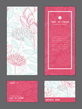 Het vector moderne bloemen verticale kader van de lijnkunst stock illustratie