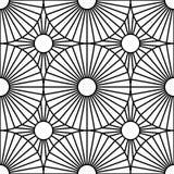 Het vector moderne naadloze doel van het meetkundepatroon, zwart-witte samenvatting Stock Fotografie