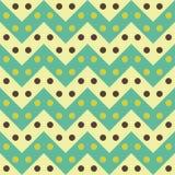 Het vector moderne naadloze kleurrijke de lijnenpatroon van de meetkundechevron, kleurt wit blauw, samenvatting Stock Fotografie