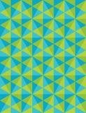 Het vector moderne naadloze kleurrijke meetkundepatroon, mozaïek, kleurt groenachtig blauwe samenvatting Stock Fotografie