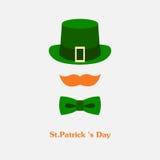 Het vector moderne vlakke pictogram van het kleurenontwerp op de Dag van Heilige Patricks Royalty-vrije Stock Afbeelding