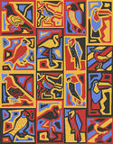 Het vector naadloze Afrikaanse patroon van stijlvogels Stock Afbeeldingen