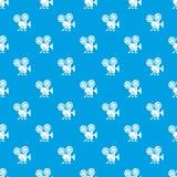 Het vector naadloze blauw van het videocamerapatroon Stock Afbeeldingen