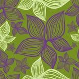 Het vector Naadloze bloemenpatroon met lilly bloeit vector illustratie