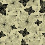 Het vector Naadloze bloemenpatroon met lilly bloeit stock illustratie
