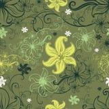 Het vector Naadloze bloemenpatroon met lilly bloeit royalty-vrije illustratie
