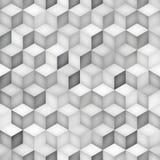 Het vector Naadloze Greyscale van het de Ruitnet van de Schaduwengradiënt Geometrische Patroon Stock Foto's