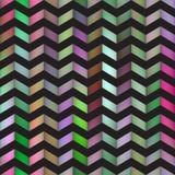 Het vector Naadloze Kleurrijke Patroon van de Lijn Heldere Veelhoeken van de Gradiëntzigzag Zwarte Royalty-vrije Stock Afbeelding