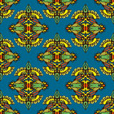 Het vector Naadloze Ontwerp van het Patroon Textieldamast Royalty-vrije Stock Foto