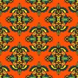 Het vector Naadloze Ontwerp van het Patroon Textieldamast Stock Afbeelding