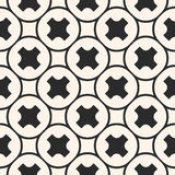 Het vector naadloze patroon, geometrische textuur, maakt kruisen glad Stock Afbeeldingen
