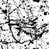 Het vector naadloze patroon met inktborstel die en ploetert druipen Stock Foto
