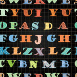Het vector naadloze patroon van de bordschool Stock Fotografie