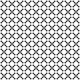 Het vector naadloze patroon van de pixelstijl Witte zwarte ornamenten op witte achtergrond Het noordse monster van de stijlstof vector illustratie
