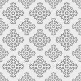 Het vector Naadloze Patroon van de Sneeuwvlok Stock Fotografie