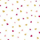 Het vector naadloze patroon van de Valentijnskaartendag Stock Afbeeldingen