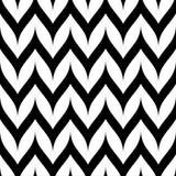 Het vector Naadloze Patroon van de Zigzagchevron Gebogen Golvende Zig Zag -Lijn Stock Fotografie