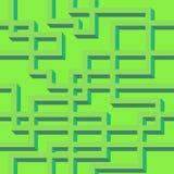Het vector naadloze patroon van greeen lijnen Stock Foto