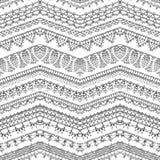 Het vector naadloze patroon van haakt kanten randen royalty-vrije illustratie