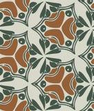 Het vector naadloze patroon van het Jugendstilbehang royalty-vrije illustratie