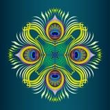 Het vector naadloze patroon van pauwveren Royalty-vrije Stock Fotografie