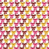 Het vector naadloze patroon van Valentine van glanzende bogen Royalty-vrije Stock Afbeeldingen